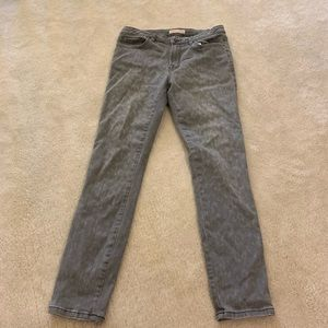 Rebecca Taylor gray printed jeans women's size 6